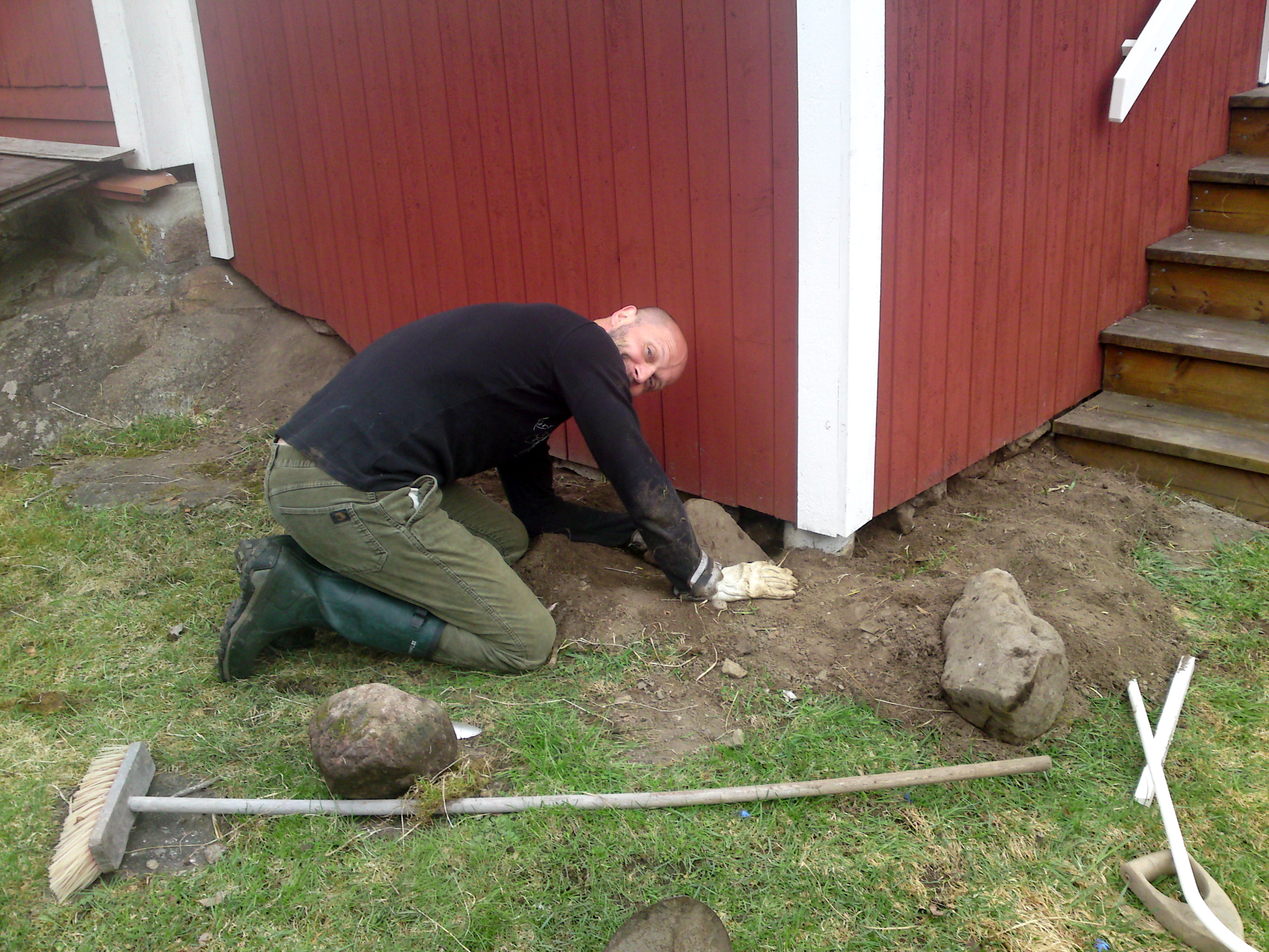 grävling under huset